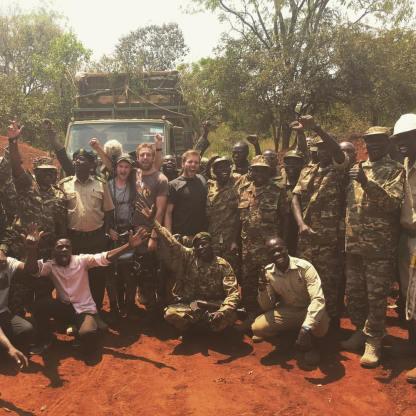 Giraffe release team - Uganda