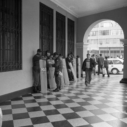 Police in Lima - Peru